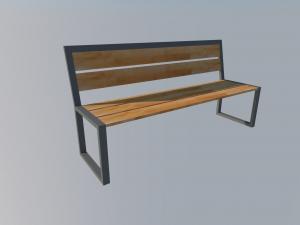 ławka miejska s2 projekt